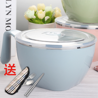 With lid Japanese student dormitory container instant noodle bowl