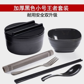 With lid large imitation porcelain bowl of instant noodles bowl