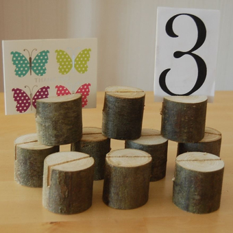 Wooden Name Place Card Holders Table Number Holder for Wedding Decor 10pcs - 2