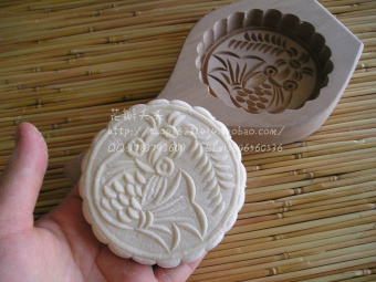 Wooden north and with wooden moon cake mold Green Group cake food mold cake mold bread mold rice cake mold