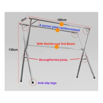 ?X-shape?1.8m Clothes Drying Rack (Premium 3 Beam Model) / Laundry rack / Foldable Clothes Rack