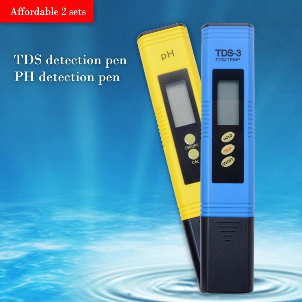 Yieryi Digital Pen Tds Meter And Ph Test For Water Aquarium Acidity Automatic Calibration