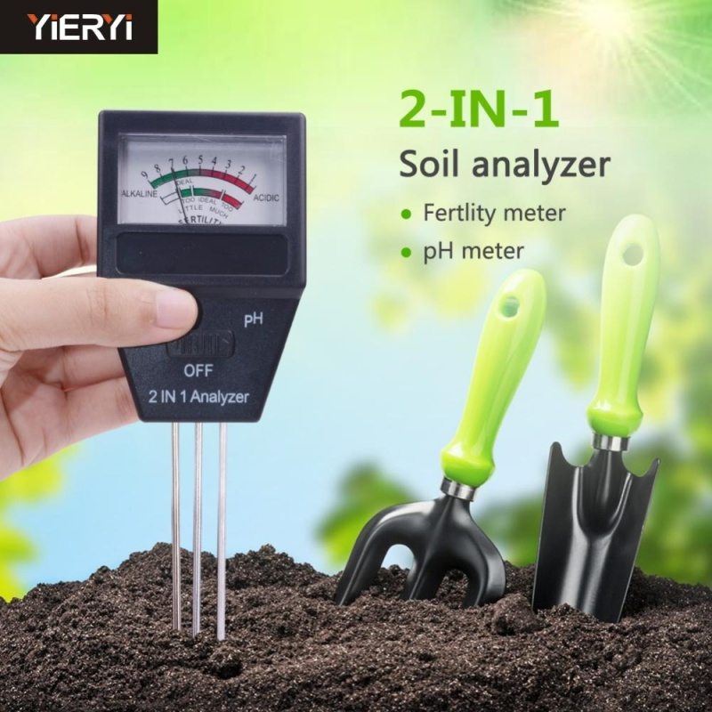 yieryi Gardening tools 2 in 1 Soil PH meter& fertility tester with 3 Probes Ideal instrument for gardening Plant Fertile pH Tester High Precision Soil ph Test Equipment For Indoor & Outdoor - intl