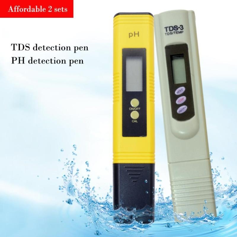 yieryi New Come 1 pcs pH-2 Meter And 1 pcs TDS-3 Meter Tester Aquarium Pool Water Wine Urine Arrive Tool - intl