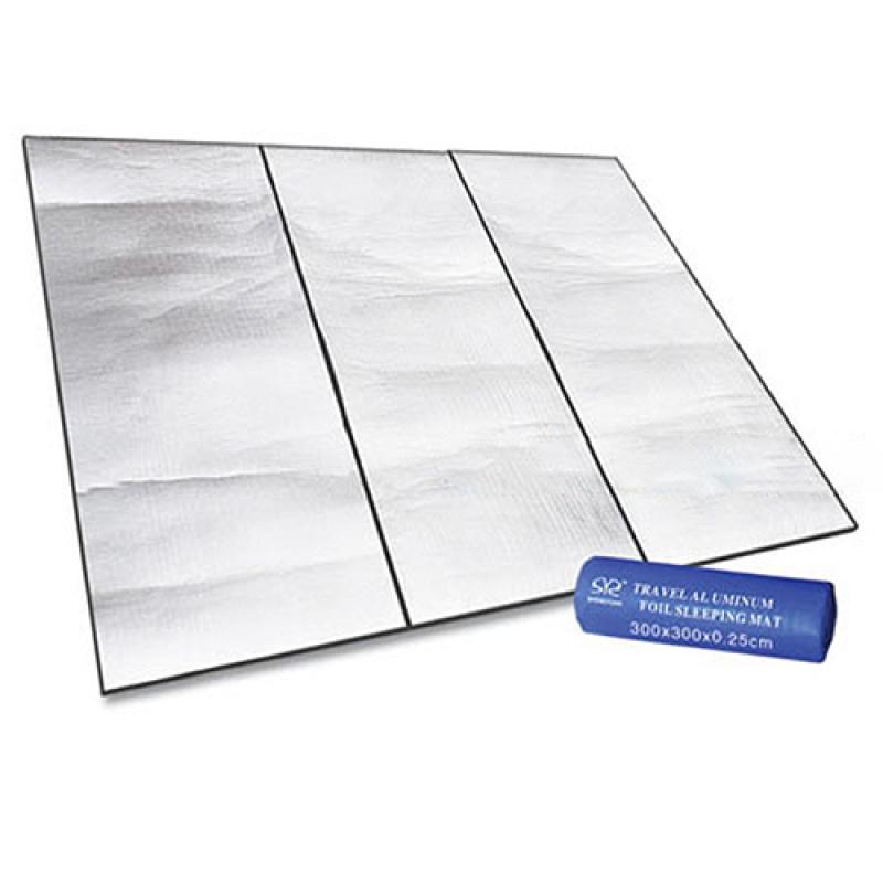 Yika Dampproof Mat Picnic Hiking Outdoor Pad Multiply Side Aluminum Film 300X300 cm