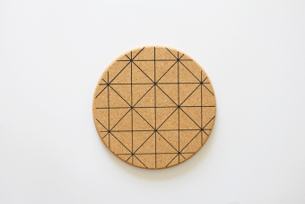 Zakka photoshoot background cork pot holder insulated pad