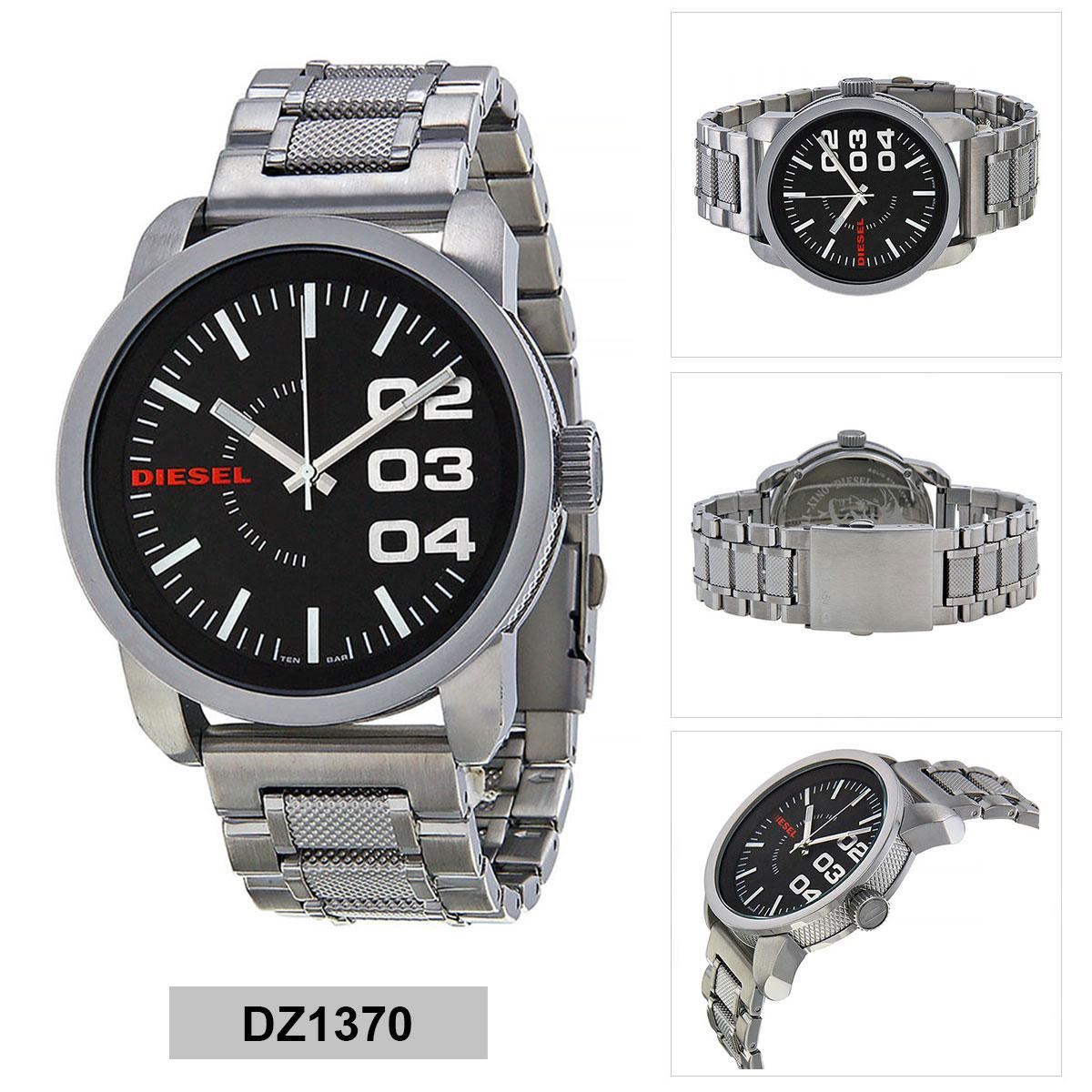 สอนใช้งาน  ปัตตานี Authentic Diesel Silver Stainless-Steel Case Stainless-Steel Bracelet Mens DZ1370 2 Years Warranty