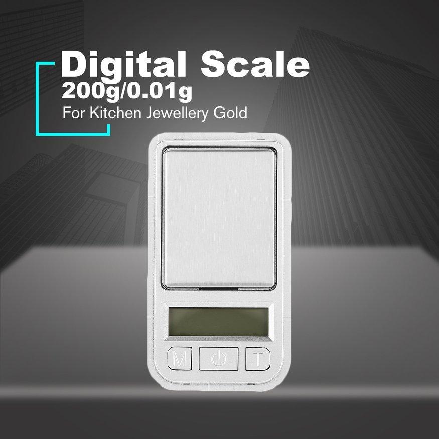 Detail Gambar Hori Mini Timbangan Saku Digital 200G 0.01 Presisi untuk Dapur Perhiasan Emas Terbaru