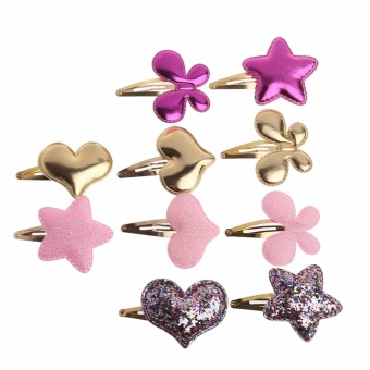 10Pcs Girls Baby Butterfly Hearts Stars BB Hair Clip Hairpin Hair Accessories - intl
