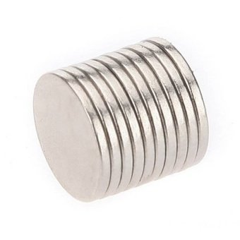 10Pcs Super Strong Rare-Earth Re Magnets 10Mm X 1Mm - intl