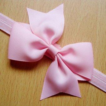 12pcs Baby Girl Satin Headband Hair Bow Band Accessories - intl - 5