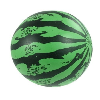 20cm Inflatable Beach Ball Lightweight Bouncy Watermelon Ball Toys- intl