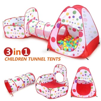 3 In 1Kids Play Tent Tunnel Play House Children Baby Indoor Outdoor Toys - intl