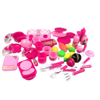 40pcs/set Pink Kitchen Food Cooking Role Play Pretend Toy Girls Baby Child