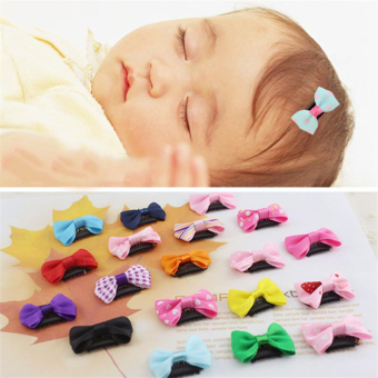 4pcs Baby Girls Infant Bowknot Hairclip Hair Pin Headwear HeadJewellery - intl