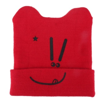 Autumn Winter Infant Baby Warm Hat Knitted Cap Toddlers Horn Cap - intl