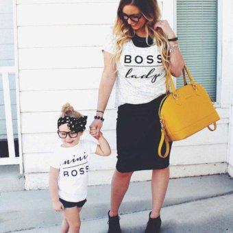 Baby Boys Girls Bodysuit mini boss letter print Romper - intl - 3