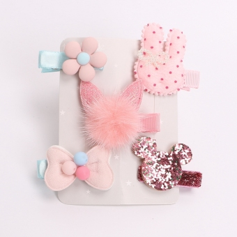 Baby cloth bag girls flower hairclip headband