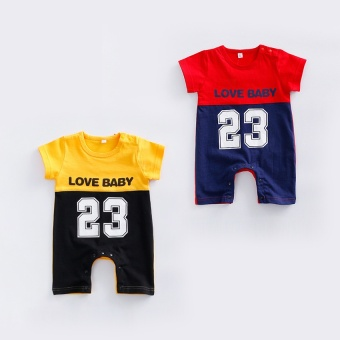 Baby Clothes summer sports romper 23 No. Male baby Siamese clothes 0-3-6-9-12 a month European and American romper tide - 2