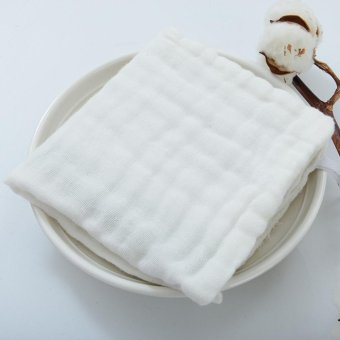 Baby Handkerchief Soft Cotton Towel Reusable Bib(White) - intl - 2