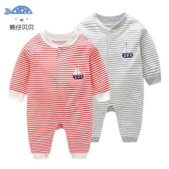 Baby long-sleeved thin onesie climbing clothes - 2