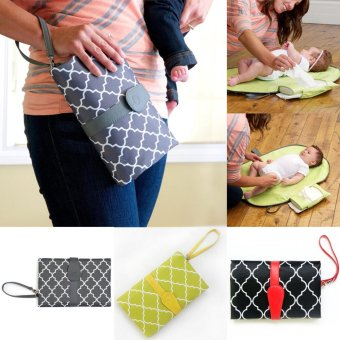 Baby Nappy Diaper Changing Change Clutch Mat Foldable Pad Handbag -intl