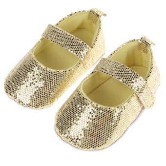 Baby Prinss First Walkers Bli Soft Sole Girls Shoes (Yellow) - intl