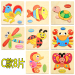 Harga Baby wooden animal traffic dimensional puzzle cartoon puzzle