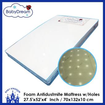 BabyDream Antidustmite mattress with holes (27.5x52 x4'' / 70x132x10cm)