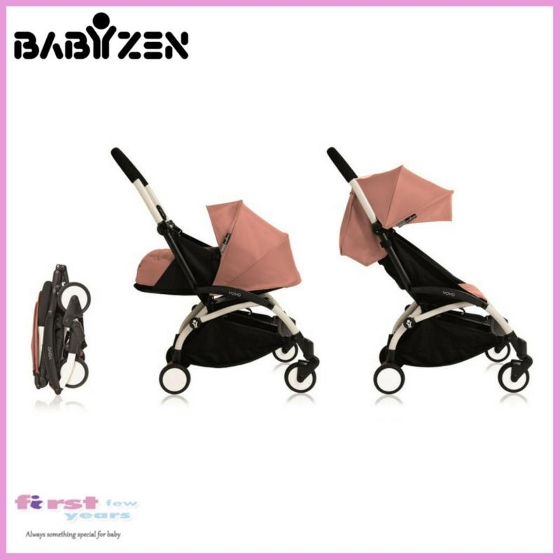 Babyzen Yoyo+ 0+ and 6+ Stroller (White Frame/Ginger) Singapore