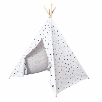 Black Triangle Printed Four Poles Kids Play Tent Indiana Teepee-intl