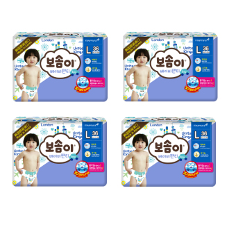 BOSOMI Baby Pants Diapers 1 Box(4Pack) Large-Boy