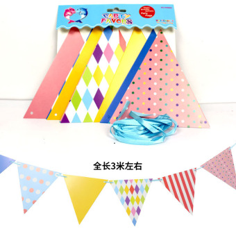 Childrens birthday party decoration banner banners Birthday Happy  party decoration banner banners pull strips hanging strips