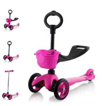 Harga CMAX 3IN1 Flashing LED Wheels Kids Scooter (Pink)