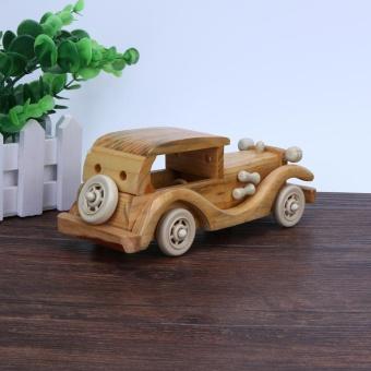 Creative Retro Wooden Classic Car Model Children Toys Crafts Decoration - intl - 4