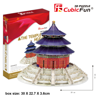 Cubicfun Temple of Heaven 3D paper Dimensional Model Buildingpuzzle