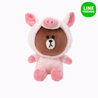 CUDDLE DOLL 25CM_PIGGY BROWN_JUNGLE BROW