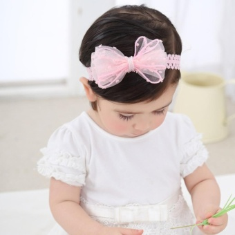 Cute Newborn Baby Girls Headband Bowknot Girls Headwear Headdress - intl - 3