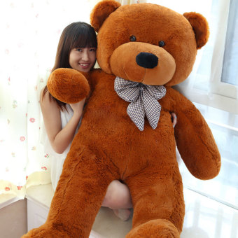 Dark Brown Stuffed Animal Teddy Bear Plush Soft Toy 80CM Huge SoftToy - intl