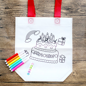 Fill color painted children's handmade hand-painted bag green bag