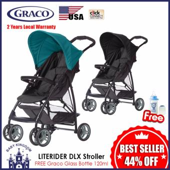 Harga GRACO LITERIDER DLX Stroller (Black Harbour Blue Emea) - Local Warranty