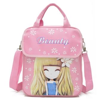 Hand bag hand carry bag students Korean-style shoulder messengerbag shoulder backpack Flower flower girl diagonal book