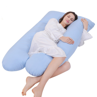 High Quality U-Shape Maternity Pregnancy Pillow Nursing Sleeping -Blue