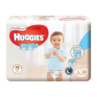 Harga Huggies Platinum Pants for Boys L 33pcs