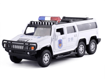 Hummer toys1 four door open alloy toy car police car