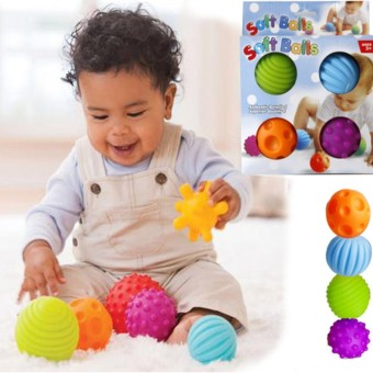 Harga Baby Touch Hand Ball Toys Baby Training Ball Massage Soft Balls for Baby 0-12 Month 4pcs