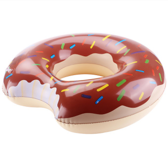 Harga LoveSport Donut Swimming Swim Float Ring Inflatable Pool Toy 60cm (Chocolate)
