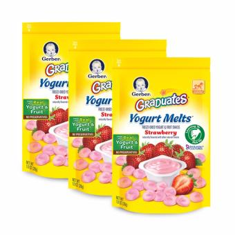 Harga GERBER® GRADUATES® Yogurt Melts® Strawberry 28g x 3