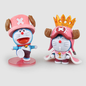 Harga 2 Style Cute Doraemon Cos Chopper One Piece Pvc Action Figurecollection Model Kids Toy Doll 11Cm In Box - intl