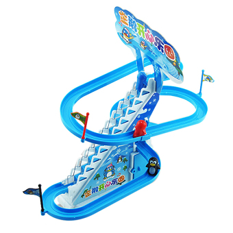 Harga Uncle Sam Kids Music Early Educational Toy Cartoon Penguin Stairs Track Toys - intl